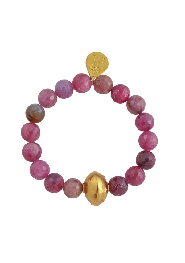 Ruby Gold Stretch Bracelet