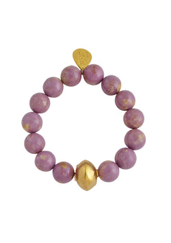 Pink Gold Accent Stretch Bracelet