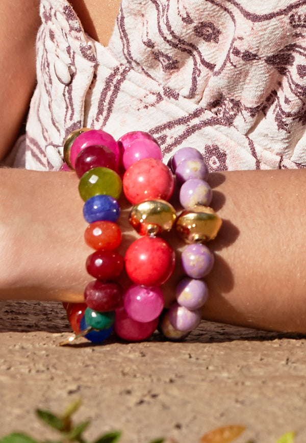 Bright Pink Stretch Bracelet