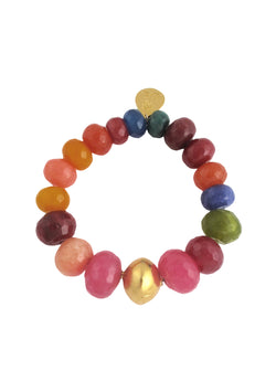Multicolor Gold Accent Stretch Bracelet
