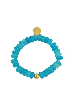 Amazonite Gold Accent Stretch Bracelet