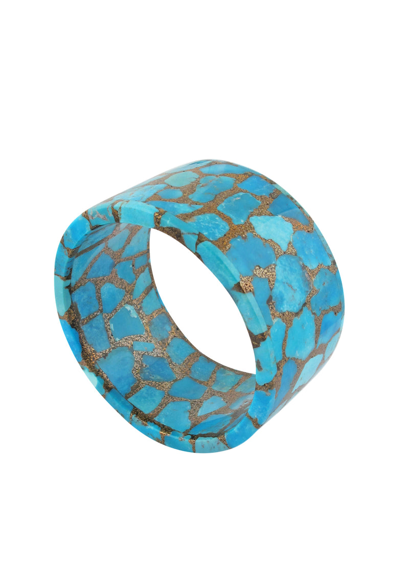 Large Copper Infused Turquoise Bangle