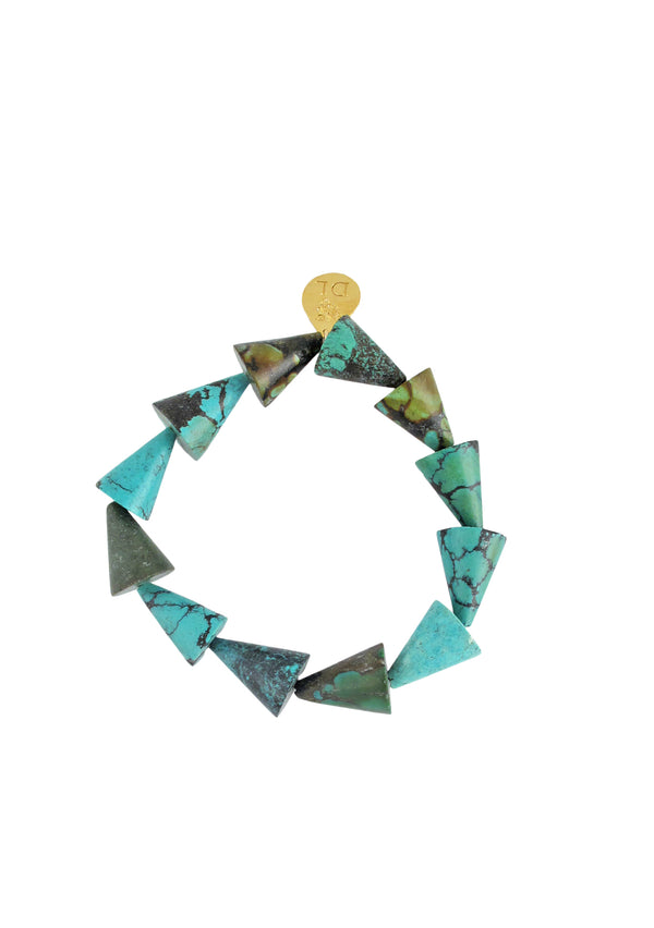 Turquoise Cone Stretch Bracelet