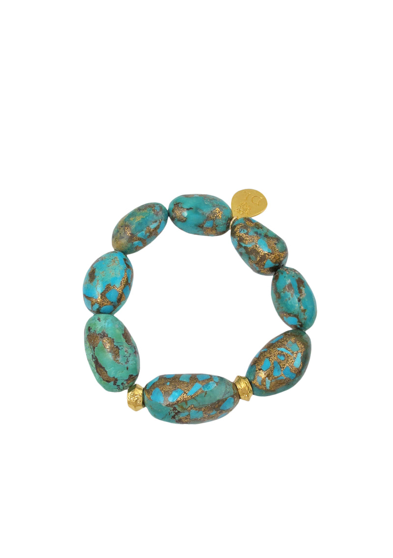 Copper Infused Turquoise Stretch Bracelet