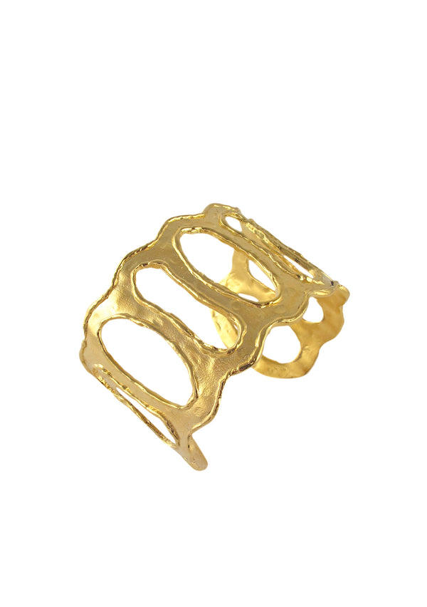 Gold Textured Open Cuff