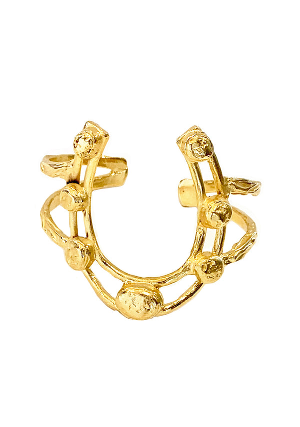 Gold Horseshoe Cuff