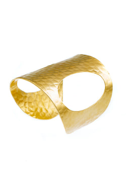 Hammered Gold Open Side Cuff