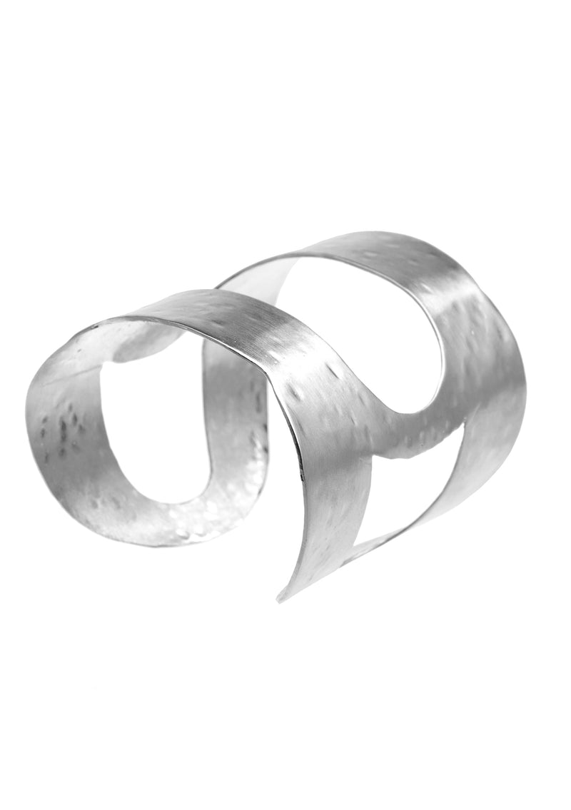 Hammered Open Style Cuff