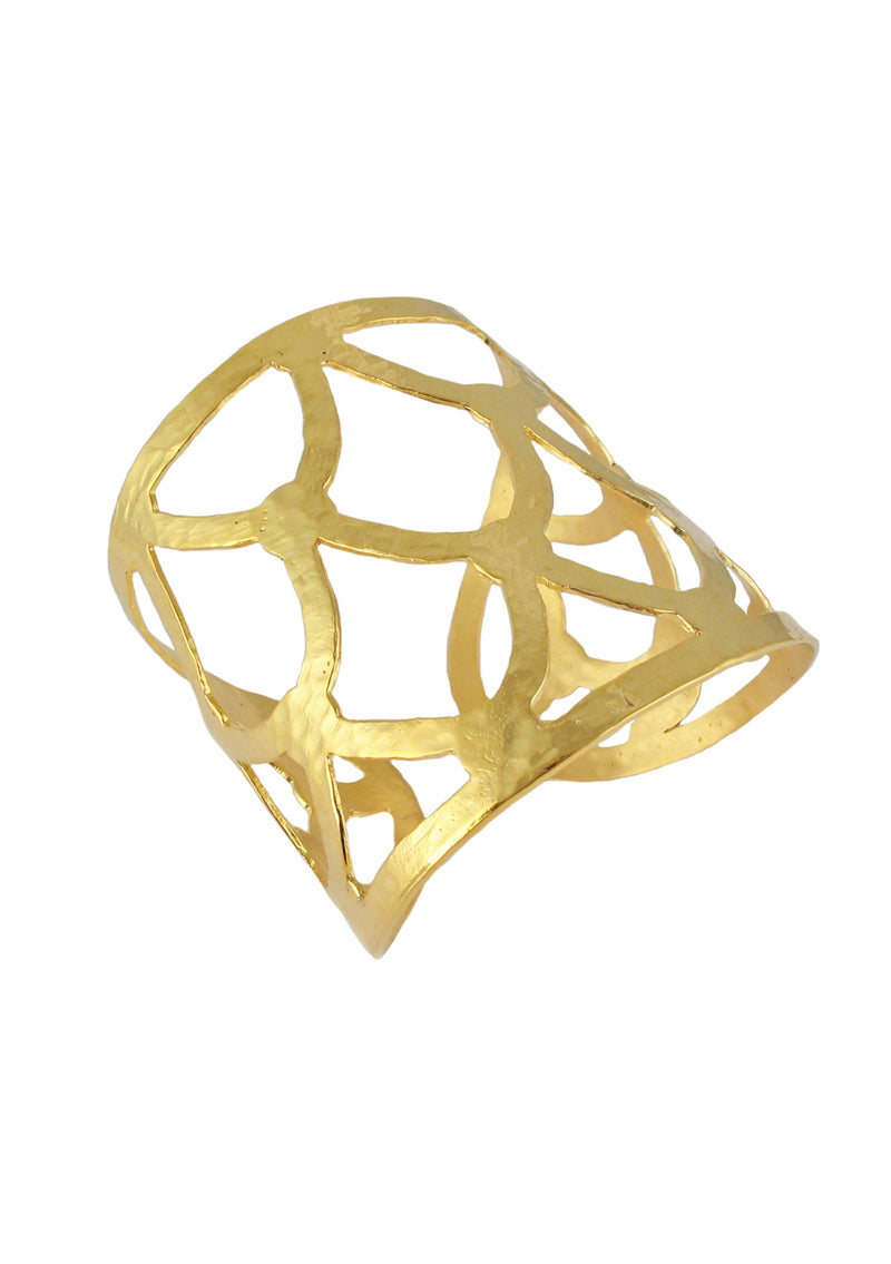 Gold Honeycomb Cuff