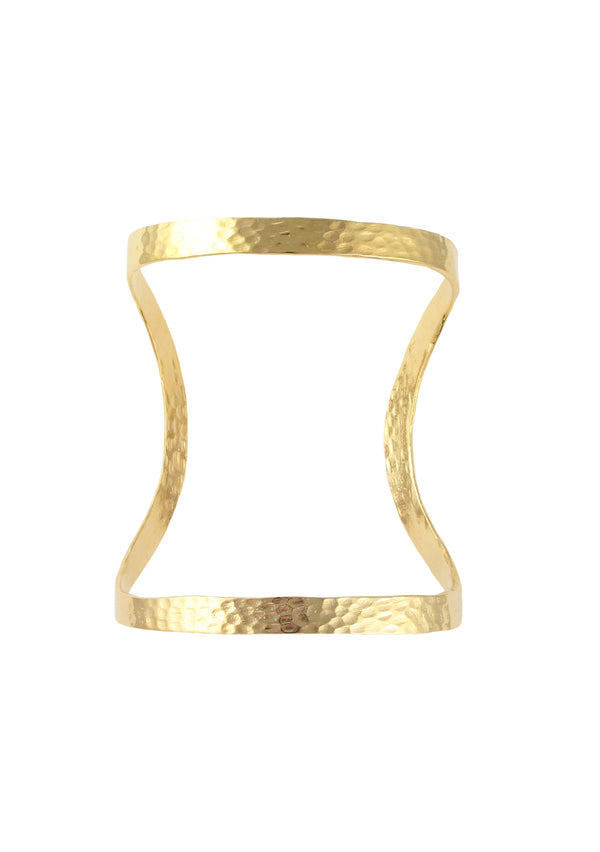 Gold Hammered Open Cuff