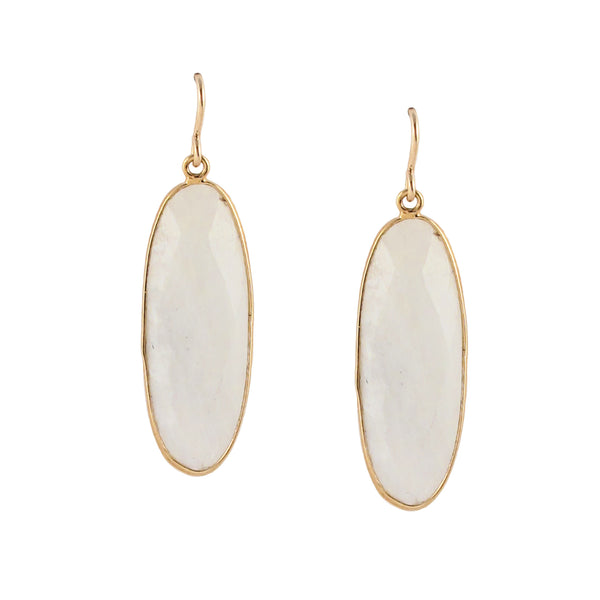 Moonstone Bezel Earrings