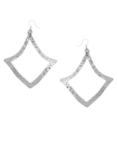 Hammered Diamond Shaped Earrings
