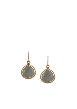 Labradorite Bezel Earrings