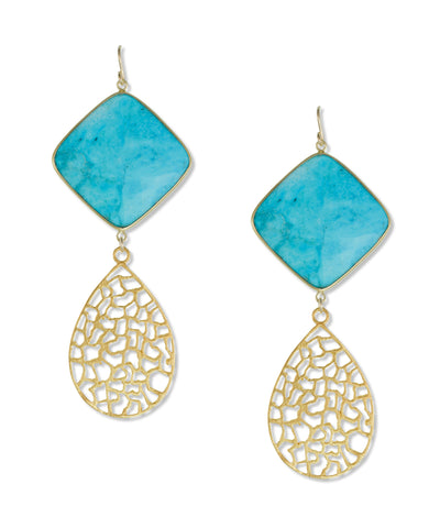 Turquoise Filigree Earrings