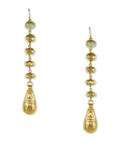 Gold Silverite Drop Earrings