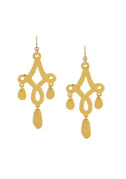 Hammered Gold Multi Drop Earrings