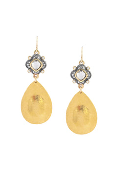Diamond Illusion Gold Drop Earrings