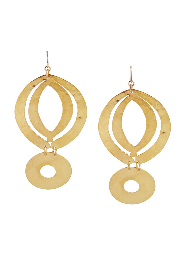 Gold Bold Geometric Earrings