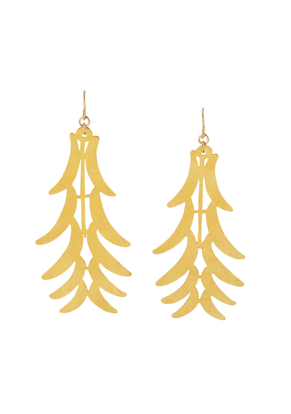 Gold Leaf Dangle Earrings