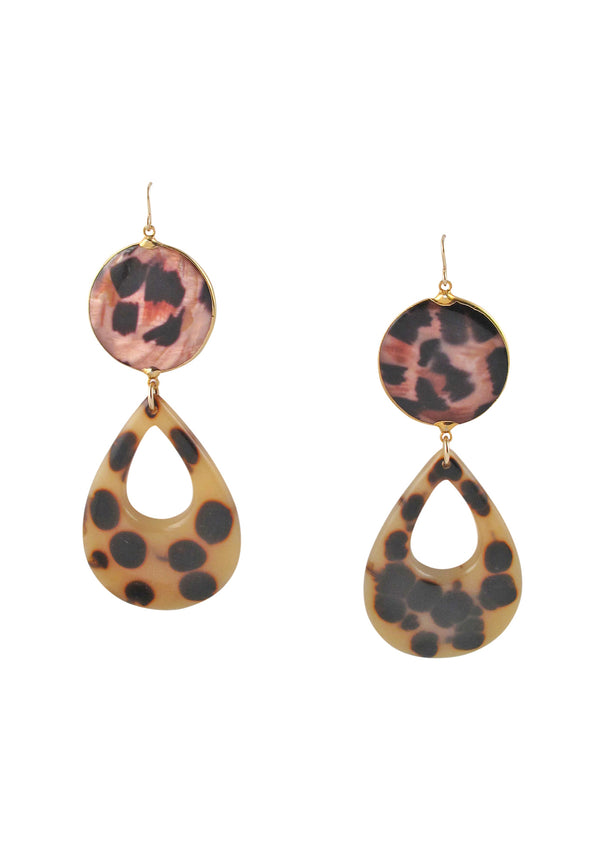 Designer animal print statement earrings