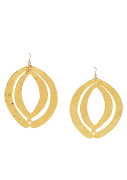 Gold Double Oval Earrings