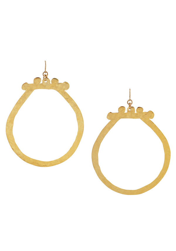 Large Gold Statement Earrings