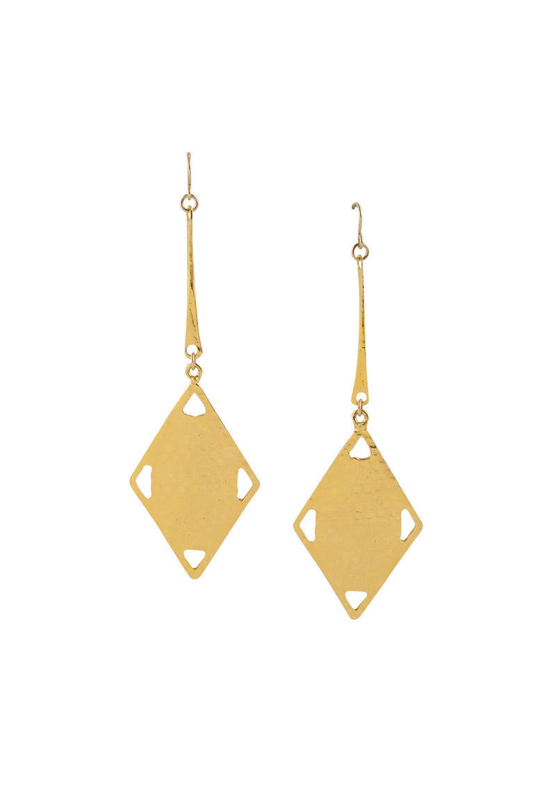 Hammered Gold Dangle Earrings