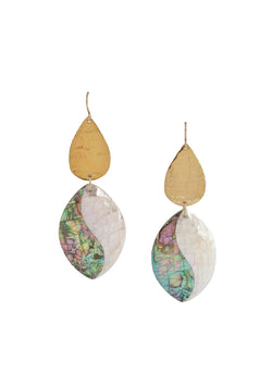 Gold Abalone Shell Earrings