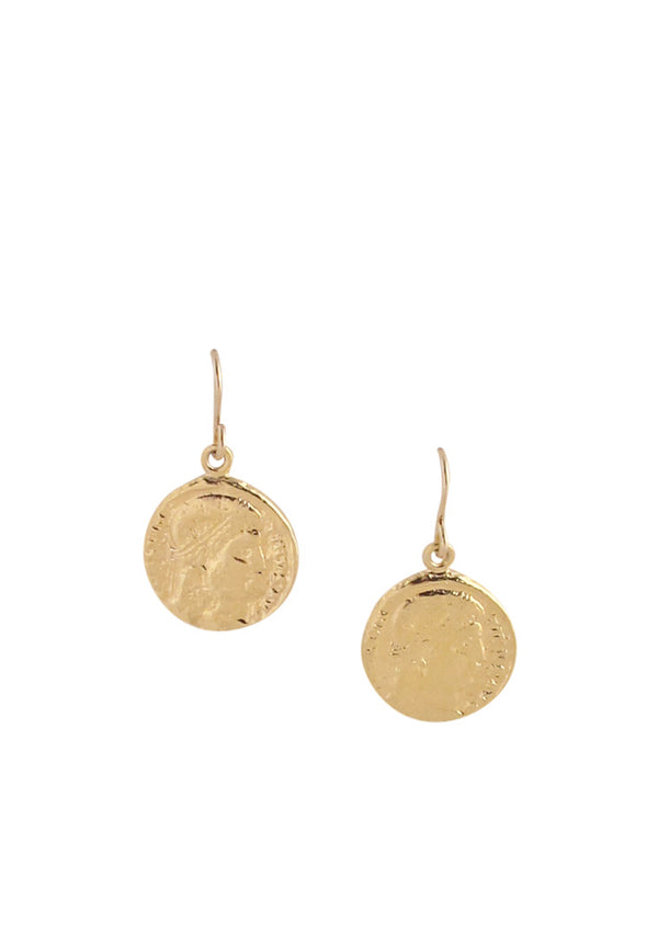 Small Gold Coin Earrings