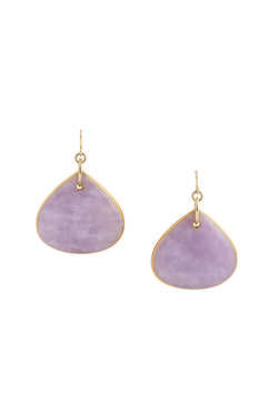 Lavender Amethyst in Gold Foil Earrings