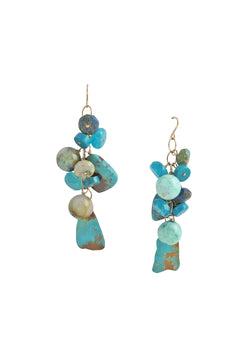 Turquoise Amazonite Cluster Earrings