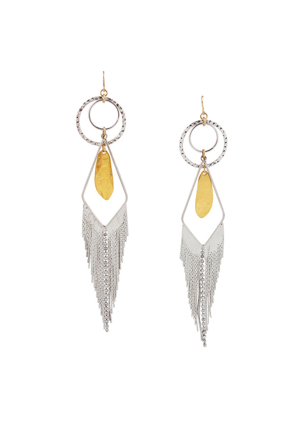 Gold Rhodium Crystal Chandelier Earrings