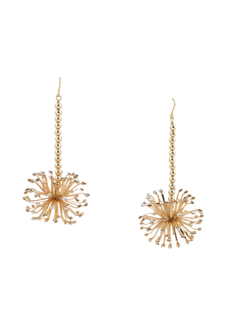 Crystal Burst Drop Earrings