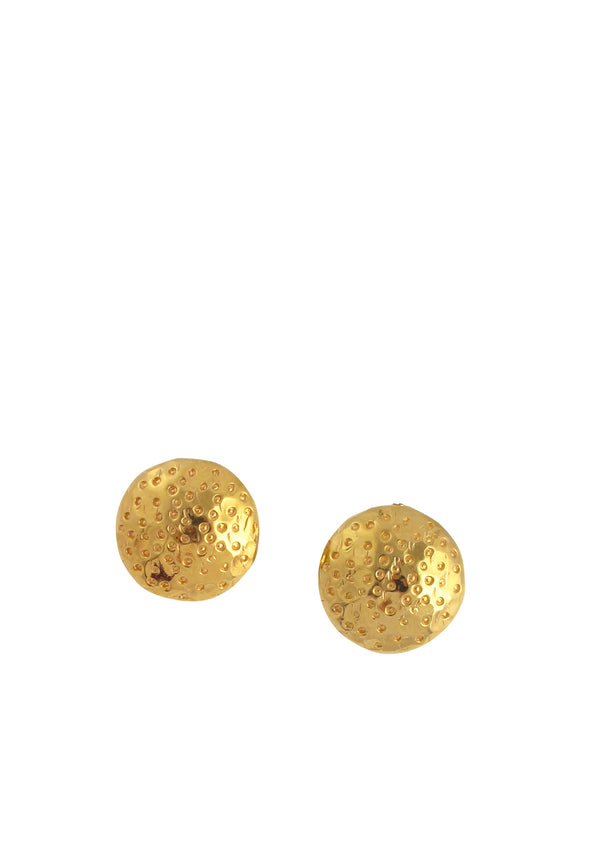 Textured Gold Clip-On Earrings