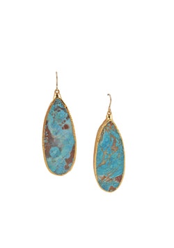 Ocean Jasper in Gold Foil Earrings