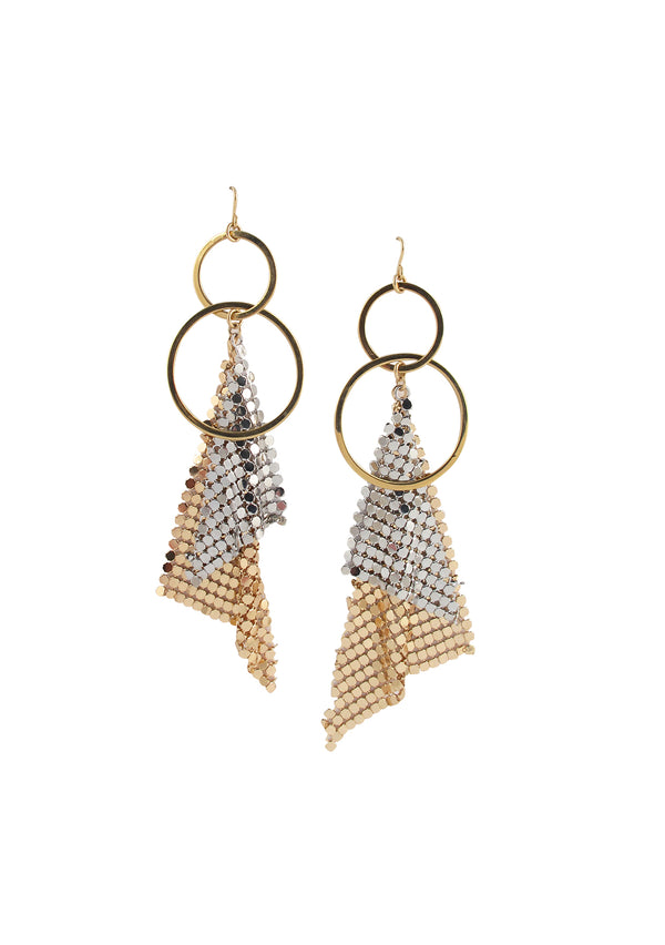 Two-Toned Mesh Earrings