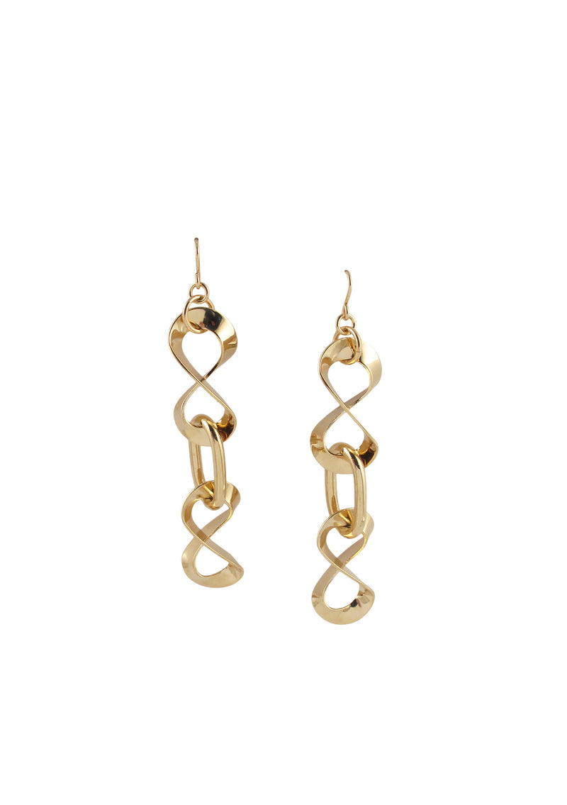 Gold Infinity Chain Earrings