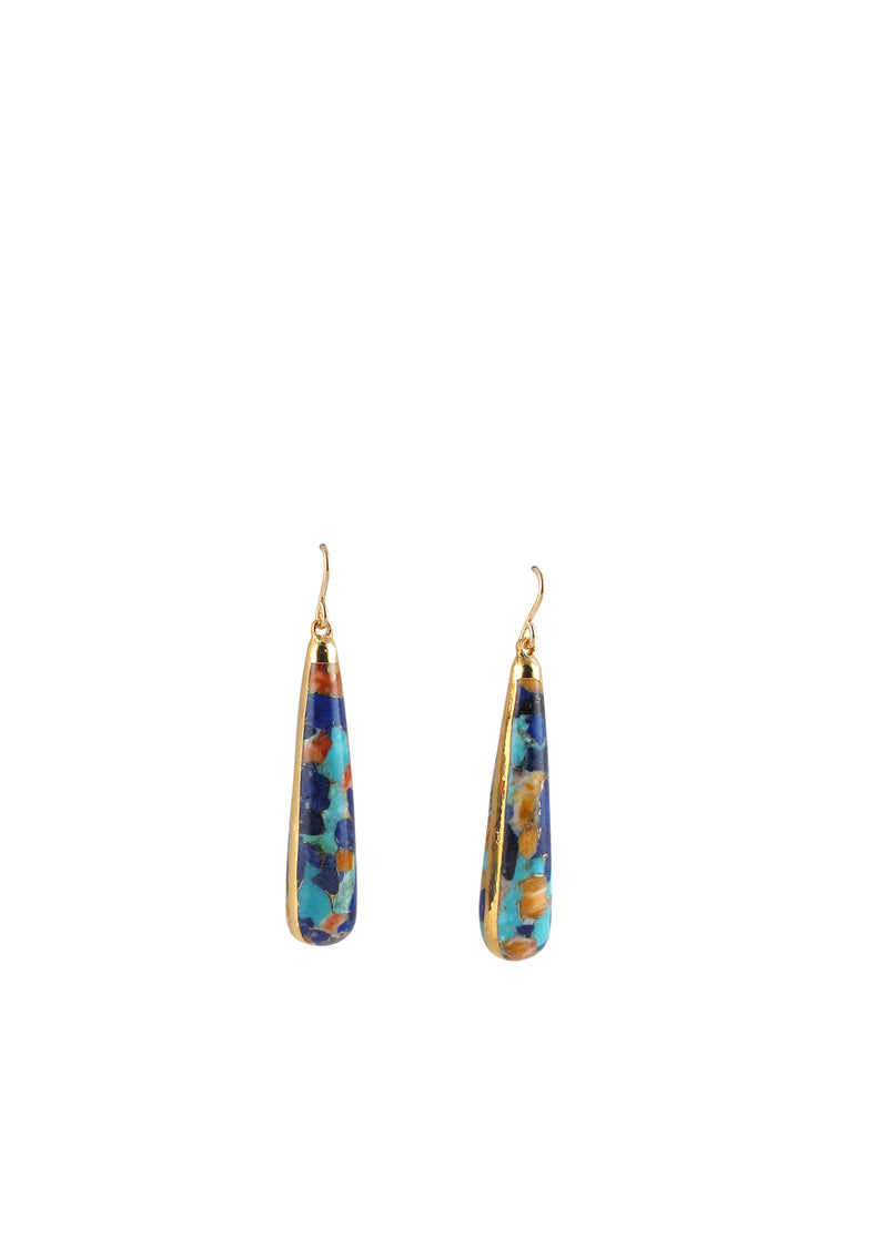Multicolor in Gold Foil Earrings