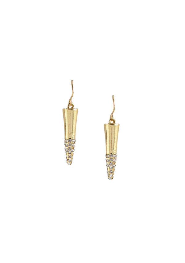 Diamond Illusion Gold Spike Earrings