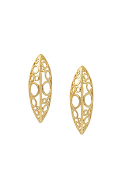 Gold Filigree Post Earrings