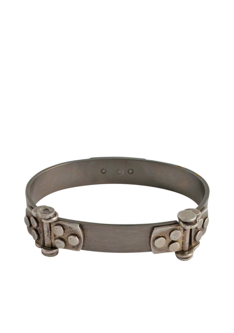 Oxidized Silver Hinge Bangle