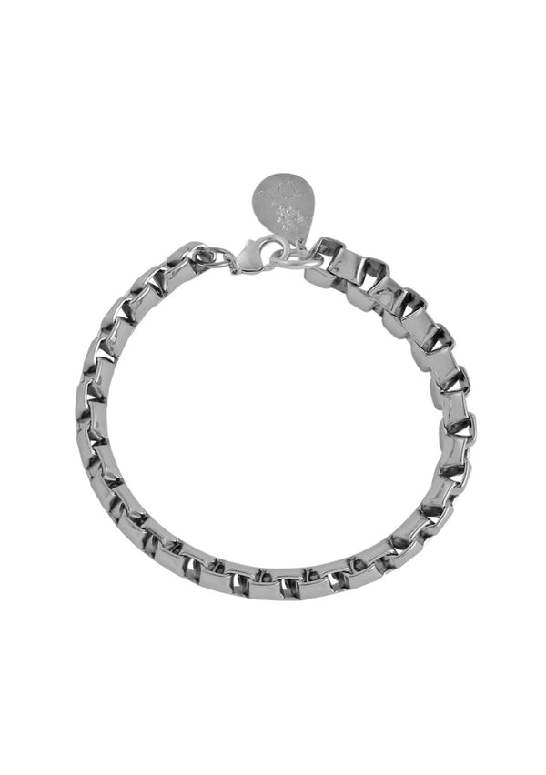 Rhodium Cable Chain Bracelet