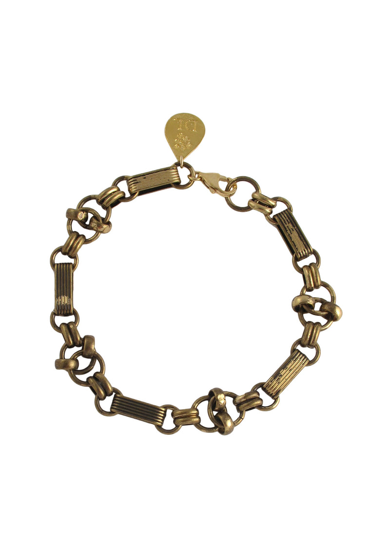 Textured Brass Chain Bracelet