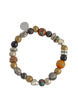 Tibetan Bead Stretch Bracelet