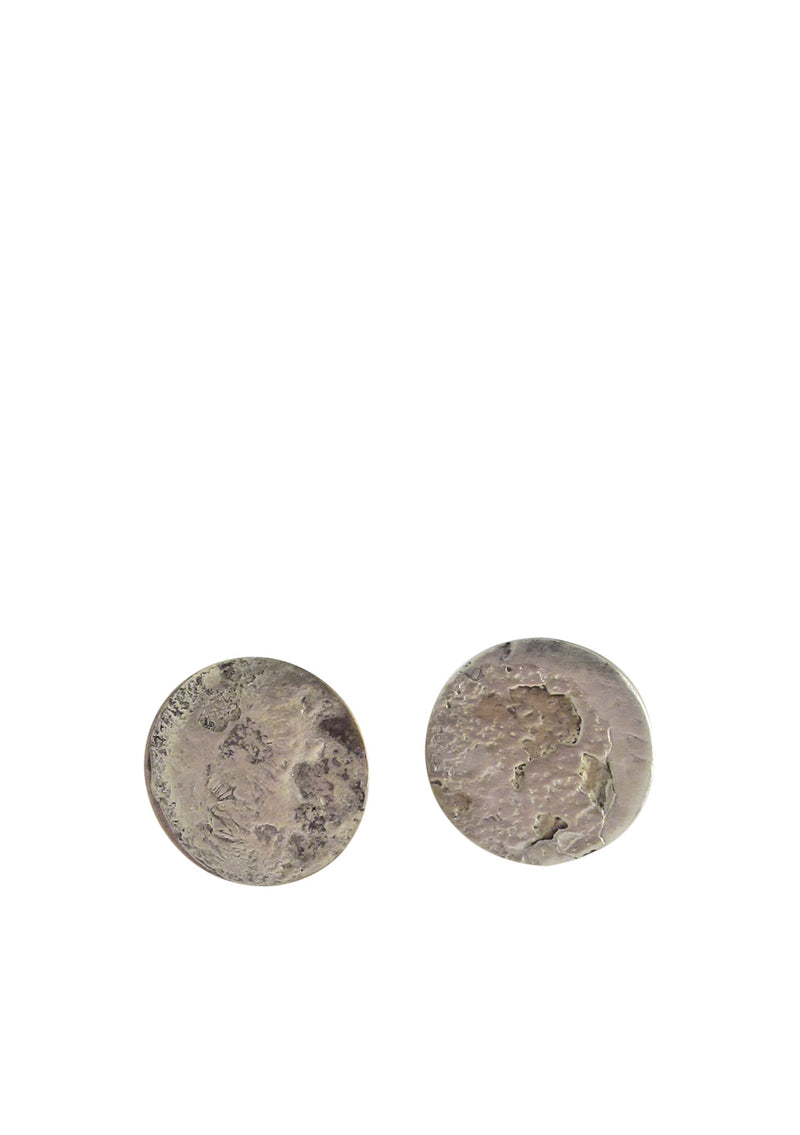 Rustic Silver Coin Cuff Links