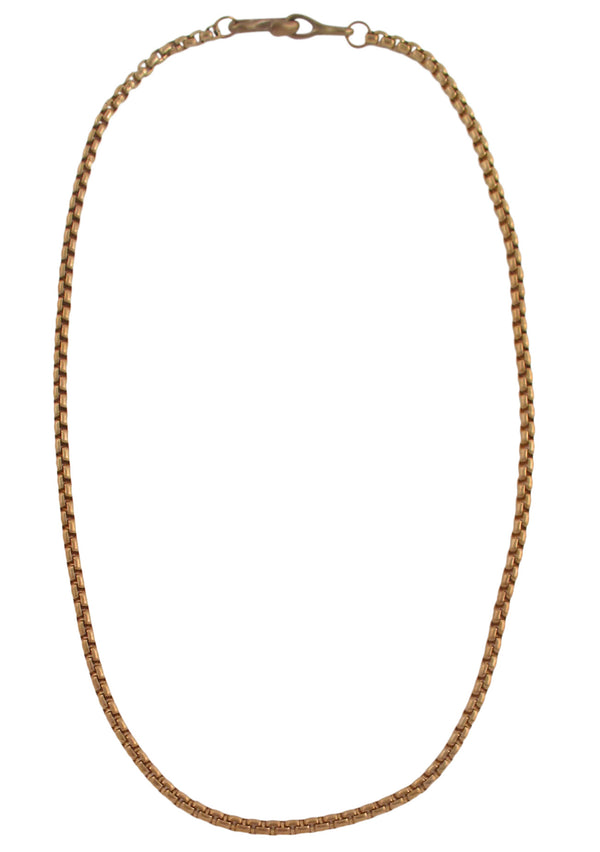Devon Leigh Bohemian style bronze cable chain necklace