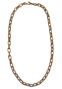 Hammered Bronze Chain Necklace