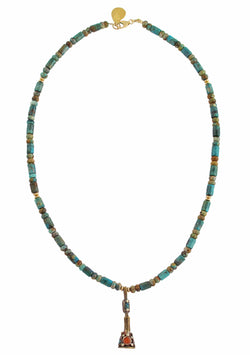 Turquoise Nepalese Pendant Necklace