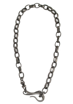 Gun Metal Hook Necklace