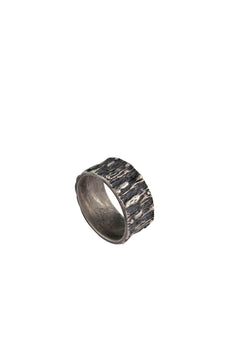 Oxidized Silver Textured Ring